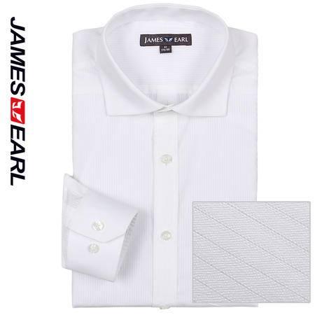 占姆士男士新款正装商务职业纯棉长袖衬衫DA112030425