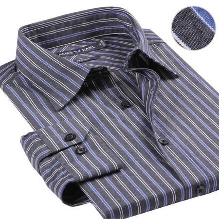 占姆士男士新款正装商务职业纯棉长袖衬衫
