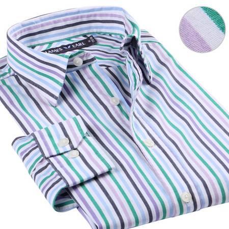 占姆士男士新款正装商务职业纯棉长袖衬衫MB1XC0012