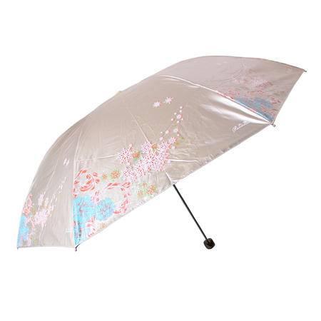 天堂黑胶防紫外线伞遮阳伞三折伞铅笔伞雪月风花
