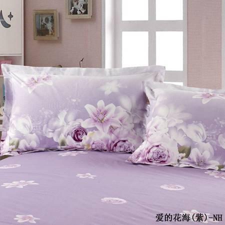 单独的枕套一对-爱的花海紫
