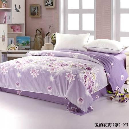单独的被套2.0*2.3M-爱的花海紫