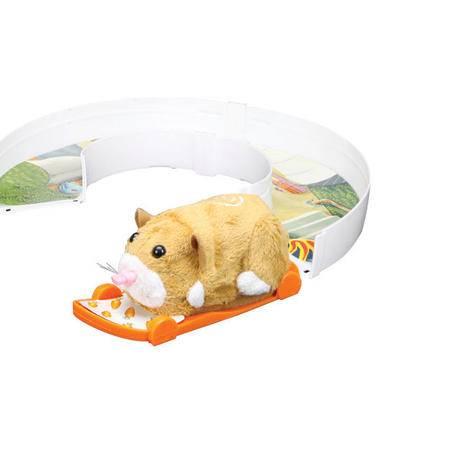 RunRunPark-猪猪宠物仓鼠滑板和U形弯道+机动仓鼠一只(风靡世界小朋友最爱)
