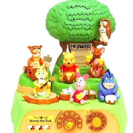智乐美-日本Disney迪斯尼森林豪华组合音乐队电动音乐盒(绝版)