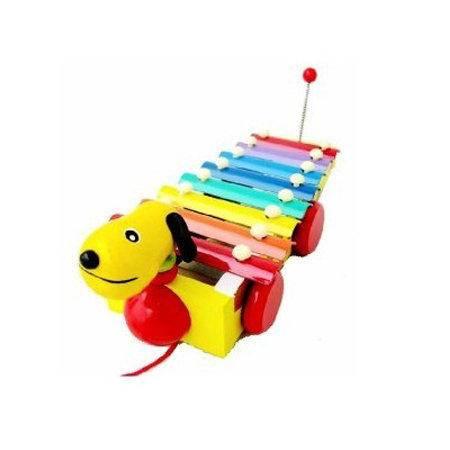 智乐美-小狗拉拉学步敲琴车 清脆八音琴