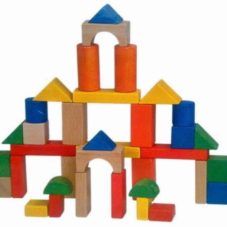 智乐美 高档三十七块环保榉木积木 J-YL20110068