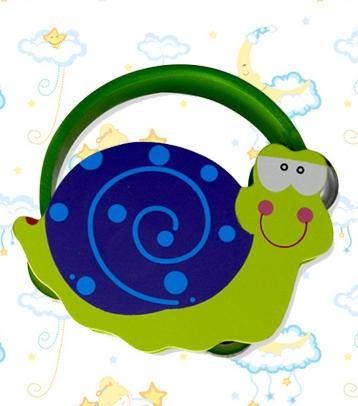木制婴幼儿蜗牛铃鼓