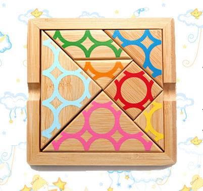 竹制古代经典智力七巧板(古典智力游戏)
