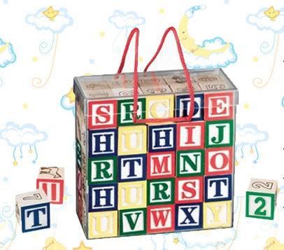 学习型玩具字母及数字冲印布袋积木
