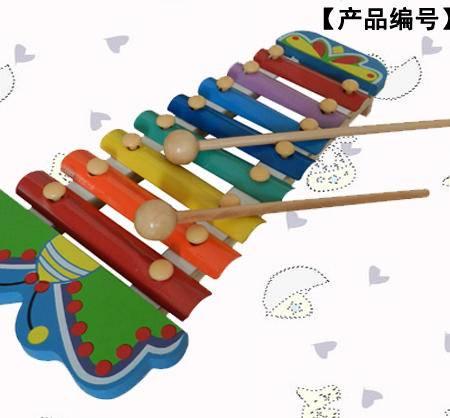 卡通蝴蝶手敲木制八音琴
