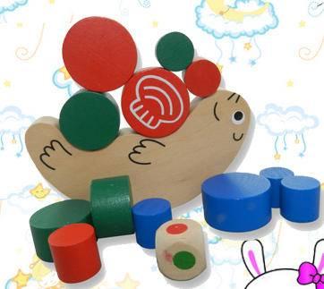蜗牛平衡木堆搭益智积木