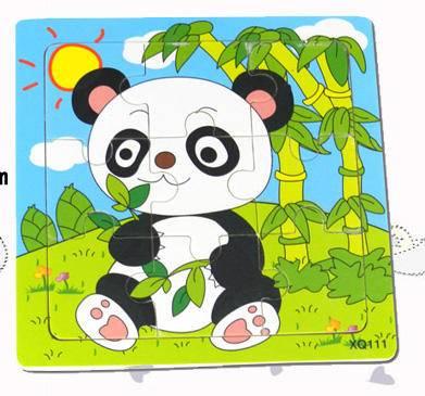 熊猫彩色九格拼图