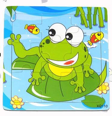 青蛙彩色九格拼图