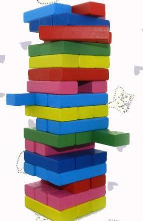 彩色叠叠高层层叠