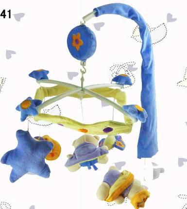 天鹅绒旋转八音盒车床铃(蓝色)