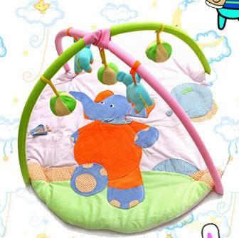 多功能婴儿健身架婴儿游戏垫(天鹅绒游乐园)