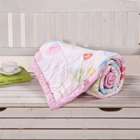 锦佩 床品家纺 韩式羽丝夏凉被 全棉斜纹印花单人空调被1.5米床/1.8米床