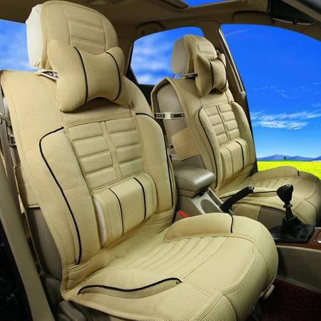 飞石 高档布衣汽车座垫8件套BBD-100 含头枕和腰靠 腰部侧翼设计 给你商务仓乘坐的感觉
