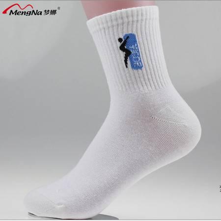 梦娜休闲 吸湿排汗 抗菌 透气 女纯棉运动袜(4双装)B5105
