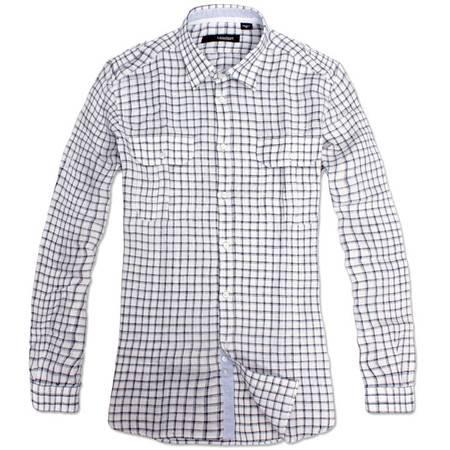 【LESMART】衬衫 亚麻 休闲 男士亚麻长袖衬衫 格纹衬衫 MTL1178