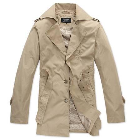 Lesmart莱斯玛特 男士 新款男装风衣立体修身裁剪商务休闲型男MDFY1101