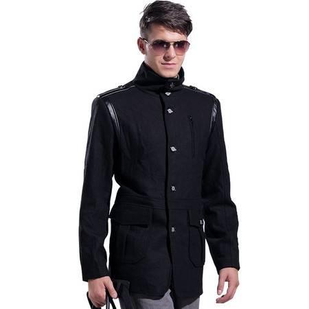 莱斯玛特 男装新款毛呢风衣 男式中长款毛呢大衣 男风衣MDFY22332