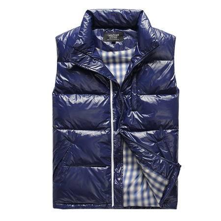 Lesmart莱斯玛特 冬装新款羽绒马甲男 亮面立领时尚休闲男士羽绒马甲 MDB72022