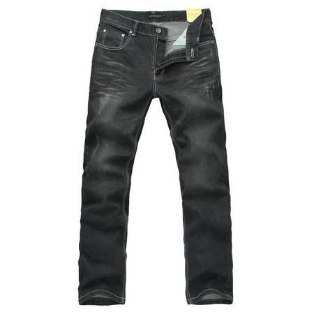 Lesmart/莱斯玛特 男装新款休闲牛仔裤 磨白直筒时尚水洗牛仔裤JELL130112