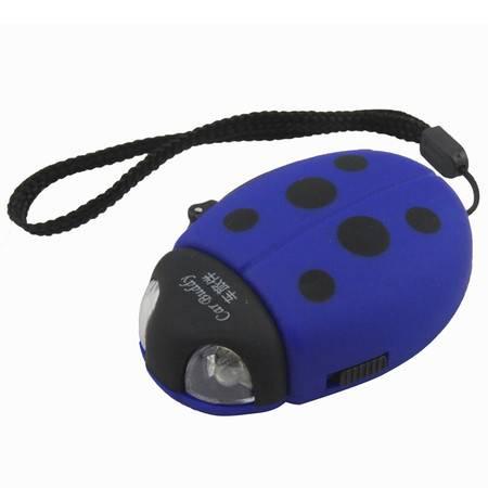 车旅伴 HQ-1046 手摇发电甲壳虫LED手电筒 蓝色