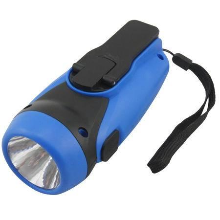 车旅伴 HQ-1043 车载手摇发电大功率LED强光手电筒手机移动电源 蓝色