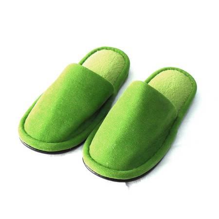 江水来中性居家室内拖鞋 JSL-10003珊瑚绒 绿色 260MM