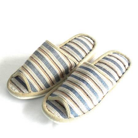 促销江水来男式条纹拖鞋居家室内外拖鞋防滑舒适拖鞋JSL-13 蓝色 280MM JSL-13-3
