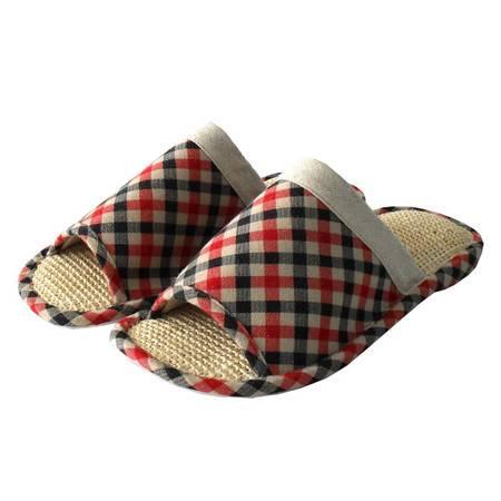 2015新款时尚经典休闲运动地板拖鞋居家室内室外情侣拖鞋男式条纹格子室内拖鞋