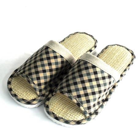 2015春夏新款经典时尚休闲运动防滑耐磨条纹格子室内地板拖鞋