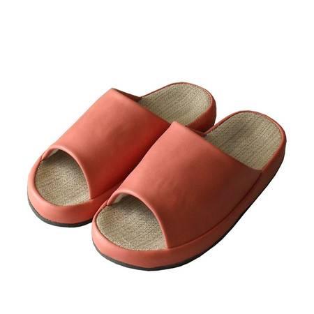 2015新款时尚女式人革夏季拖鞋夏季居家拖鞋室内室外休闲舒适防滑拖鞋-桔色 蓝色 黄色 260MM