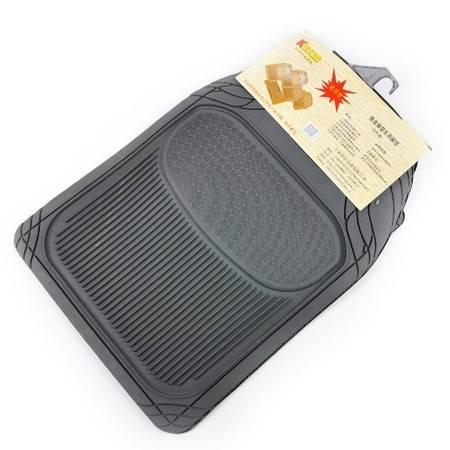 晶臣惬意橡塑防水防滑 环保脚垫 橡胶塑料 通用汽车无味脚垫5片装