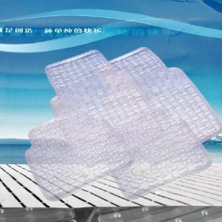 晶臣 PVC汽车脚垫 防冻防水透明脚垫 汽车防滑通用脚垫 汽车塑料脚垫