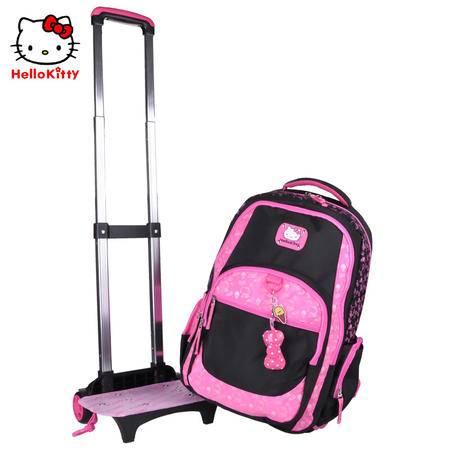Hello Kitty凯蒂猫学生拉杆书包可拆卸配防雨罩TR-HK3094