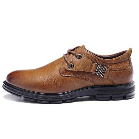 秋季正品系带男鞋英伦风商务休闲鞋真皮皮鞋