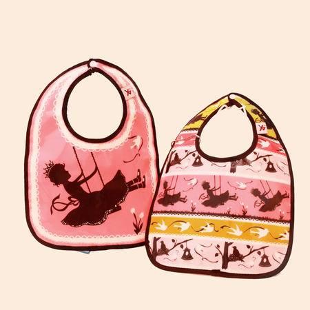 美琦兔 秘密花园系列mm02 环保EVA 儿童防水围兜两件套