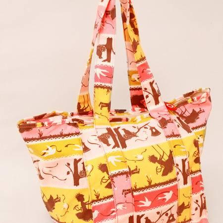 美琦兔 秘密花园系列mm01 欧系帆布周末外出袋妈妈包
