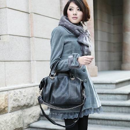 奥狄菲 2014新款时尚头层牛皮真皮女款复古单肩包手提包 A076
