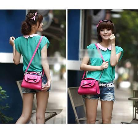 新款2014夏季日式包包韩版女包新款可爱蝴蝶结纯色包包 A091