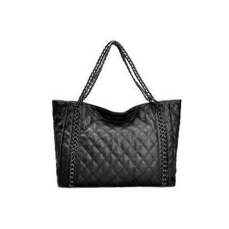 奥狄菲 2012新款时尚单肩格菱链条休闲大包 A103