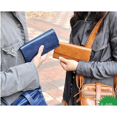 奥狄菲 新款韩版钱包仿真皮复古斜盖OL字母女士卡包 A106