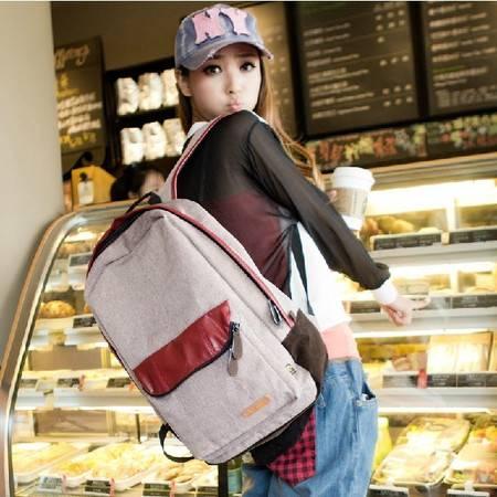 学生书包撞色双肩包女韩版潮学院风书包中性大容量背包旅行包男电脑包ody030