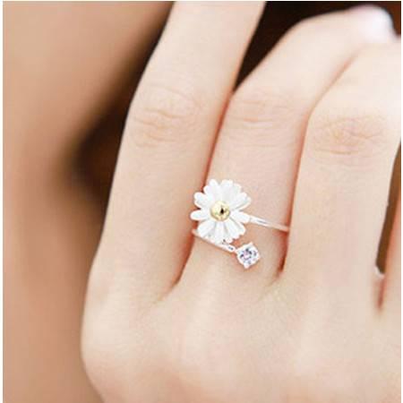 柏妃 雏菊戒指指环雏菊花朵戒指 B014