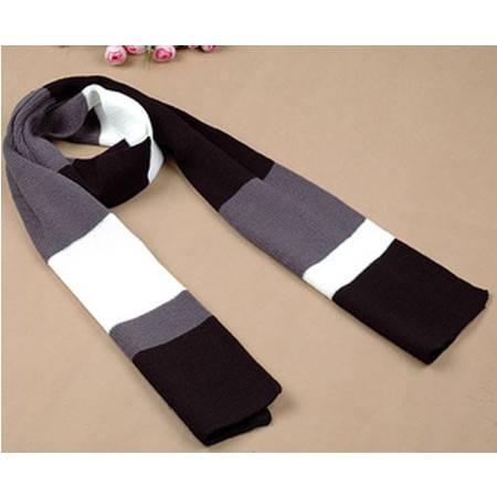 柏妃 冬季韩版羊毛潮男士围巾 男款毛线针织围巾B229