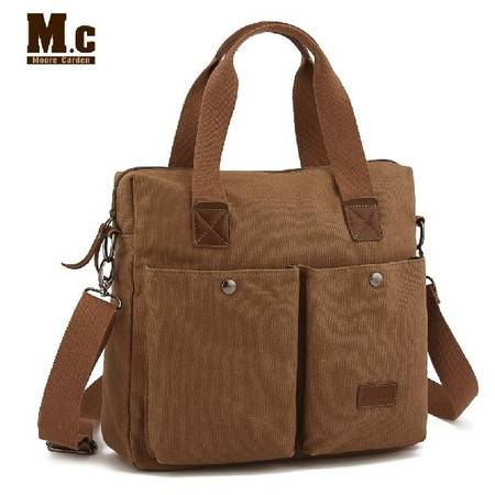 摩尔卡登新款手提商务公文包 休闲男女帆布包包 单肩斜跨包 书包mc049