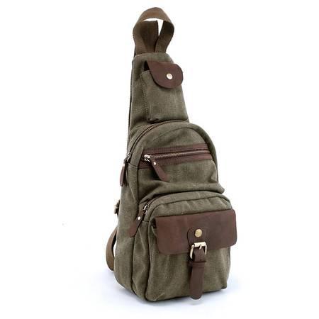 积卡逊-韩版时尚休闲胸包 男单肩斜挎包正品加厚帆布包潮包 包邮GC-1069